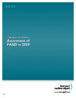Awareness of FASD in 2009