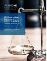 FASD and Justice Survey Summary Report Phase One