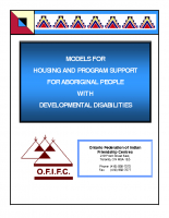 Models for Housing and Program Support for Aboriginal People with Developmental Disabilities