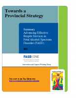 Summary Toward a Provincial Strategy – Advancing Effective Respite Services 2010